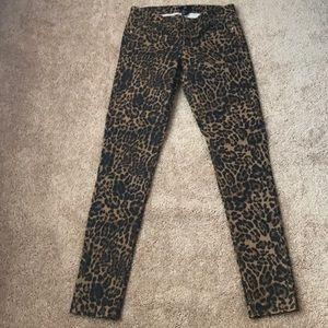 H&M Leopard Skinnies